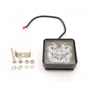 SuperLight 27W 12V / 24V přídavné pracovní a couvací světlo hranaté