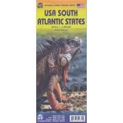 Wegenkaart - landkaart USA South - Atlantic States   ITMB