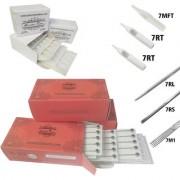 MUMBAI TATTOO NEEDLES 7RL 7RS 7M1 ROUND MAGNUM LINER SHADER WITH TIPS 7RT 7RT 7MFT (PACK OF 3 RED BOX 3 BOX TIPS)