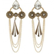 Envy Jewellery Gold Plated Kundan Diamond metal Dangle Earring