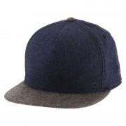 Kooringal Sidewalk Denim Flat Bill Snapback Hat Dark Blue/Heather Grey KM189