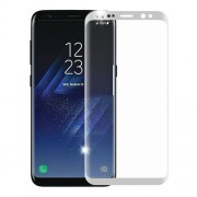 Folie Sticla Samsung Galaxy S8 g950 White Fullcover Tempered Glass Ecran Display LCD