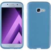 MP Case Samsung Galaxy A3 2017 / A3 2017 Duos Siliconen Hoesje TPU Blauw Back Cover voor Samsung Galaxy A3 2017 / A3 2017 Duos Back Case