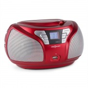 OneConcept Groovie RD Boombox Bluetooth CD FM AUX MP3 rojo (MG-Groovie RD)
