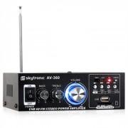 AV-360 Amplificador HiFi-Stereo USB SD MP3 AUX VHF
