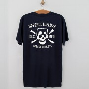 Uppercut Deluxe Uppercut Grease Monkey Lives T-Shirt - Navy/White Print - S - Navy/White