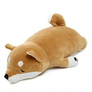 HITSAN INCORPORATION Jumbo 90cm Stuffed Plush Toy Gift Anime Shiba Inu Dog Soft Plush Pillow Cushion Animal Pet Doll
