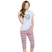 Reb baglyocska lányka pamut pizsama 146