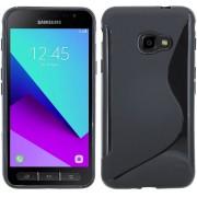 Samsung Galaxy Xcover 4 Zwart S-line TPU siliconen case hoesje