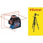 Bosch GLL 3-80 linijski laser 3x360° 80m domet + BT 150 stativ (06159940KD)