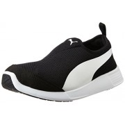 Puma Unisex St Trainer Evo Slip-On Black and White Sneakers - 7 UK/India (40.5 EU)