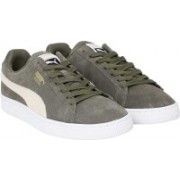 Puma Suede Classic + Sneakers For Men(Olive, Grey)
