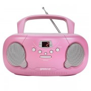 Groov-e GVPS733PK Original Boombox Portable CD Player With Radio Pink