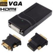 Adaptateur d affichage USB 2.0 vers DVI / VGA / HDMI, support Full HD 1080P, extensible jusqu à 6 unités d affichage