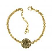 Biżuteria damska Adore Jewellery Small Metallic Pave Disc Bracelet 5375484