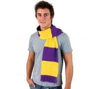 Result Gestreepte sjaal paars met geel