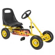 Kids Pedal Powered Racing Go Kart Yellow