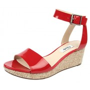Clarks Women's Ornate Jewel Red Fashion Sandals - 6 UK