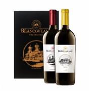Brancoveanu Vin Domnesc Set in Carte Rosu si Alb 0.75L
