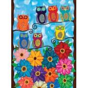 Puzzle Clementoni - Kerri Ambrosino: Cute little Owls, 500 piese (53979)