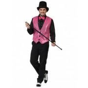 Chaleco con lentejuelas de color rosa XL