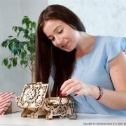 Puzzle 3D Cutie antica de bijuterii Ugears