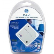 GE 55-in-1 USB 2.0 High Speed Card Reader Writer - 20601 USB Extension Cable