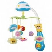 Carusel pentru patutul copiilor cu muzica si proiectie Sleepy Blue