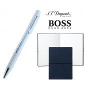 Set Dupont Bille Point Diamond St Germain si Note Pad Blue Hugo Boss