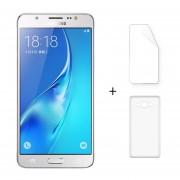 """Samsung J7108 3 + 16GB Galaxy J7 (2016) Android 5.1 Dual Sim 5.5 """"FHD 4G LTE 5 + 13MP Blanco + Protector De Pantalla + Estuche"""