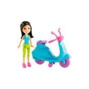 Motocicleta Mattel Polly Pocket - Sort Bon Scooter com Boneca - Crissy