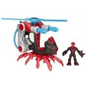 Playskool Heroes Marvel Super Hero Adventures Arachno-Blade Copter Vehicle with Big Time Spider-Man