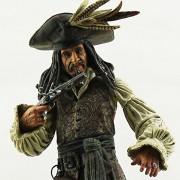 Pi² Pirates of the Caribbean Captain Jack Sparrow Action Figure w/ Weapon Accessories 20cm