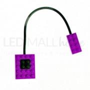 Garenergie Lampada Da Lettura Led A Forma Di Mattoncino Lego - Block Light Colore Viola