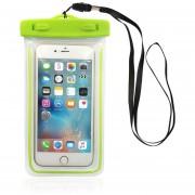 Caso Impermeable Bolsa De Teléfono S08 Con Luminoso Bolsa De Teléfono Funda Para El IPhone 7 7 Más 6 6s Para Samsung Galaxy S8 S7 Borde S6 Para El Teléfono De Hasta 5,7 Pulgadas (verde)