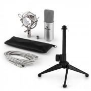 Auna MIC-900S USB set de micrófonos V1 micrófono condensador plata soporte de mesa (60001932-V1)