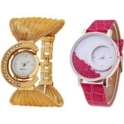 TRUE COLORS Fast Selling Beautiful Hot Combo Pair Best Selling Couple Combo Analog Watch - For Girls