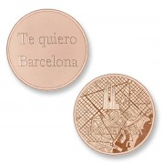 Mi Moneda BAR-03 Del Mundo - Barcelona rosekleurig Large