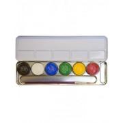 Vegaoo Metalen schminkpalet met 6 kleuren One Size