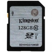 Карта памет Kingston SDXC 128GB, Class 10 UHS-I, KIN-SD10VG2/128GB
