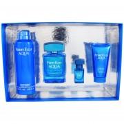 Set Perry Aqua 4 Pzs 100 Ml Edt Spray + Desodorante 200 Ml + Shower Gel 50 Ml + 7.5 Ml Edt De Perry Ellis