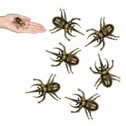 Merkloos 6x stuks Nep namaak kevers insecten