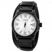 Sinobi Schwarz-Weiße Uhr mit qualitativem Uhrwerk
