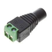 12 Volt Female 2.1mm DC Connector CCTV Camera Power Adapter