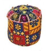 Kuber Industries™ Rajasthani Print Cloth Big Storage Puffy Stool Handmade in 100% Cotton (Colour and Print might vary according to availibility)