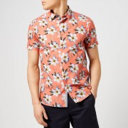 Ted Baker Men's Baboo Short Sleeve Shirt - Coral - 2/S - Pink