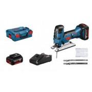 Bosch GST 18V-Li S Professional 2x 4Ah Accu + GAL1840 + L-BOXX