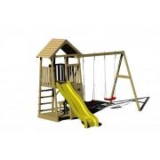 Holz Kletter- und Spielturm Giraffe natur, 340x280x270 cm