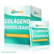 Colageno Hidrolisado 10G Vitaminas Minerais 30 Sachês Abacaxi
