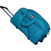 YES STYLE (Expandable) Stylish 40 Liters Travel duffel Trolley Bag With Spacious Compartment Duffel Strolley Bag(Blue)